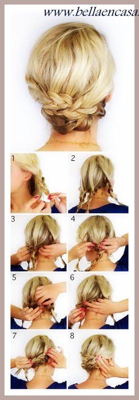 peinados de fiesta para cabello corto, los mejores!!! - bella en casa