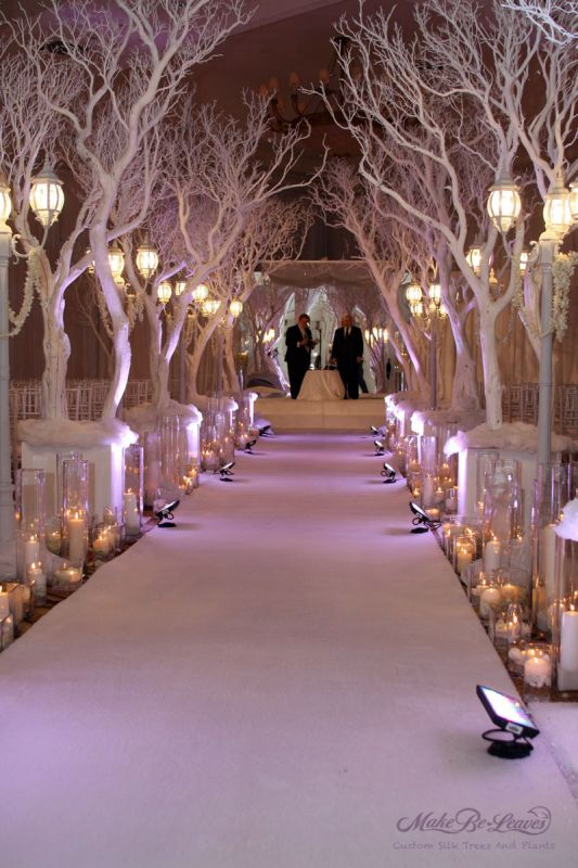 Winter event decor used to be synonymous with colors such as red