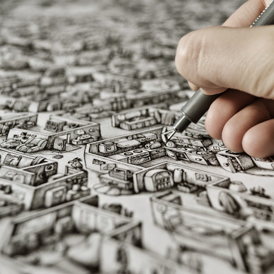 07-Marija-Tiurina-Intricate-and-Detailed-Ink-Maze-Drawings-www-designstack-co