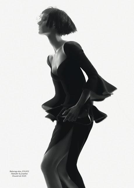 Hatmaker bridal veiling headpiece for Harper's Bazaar