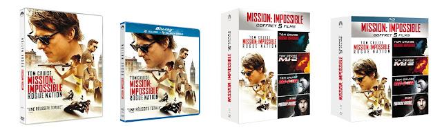 MISSION: IMPOSSIBLE - ROGUE NATION en DVD, Blu-Ray et coffrets