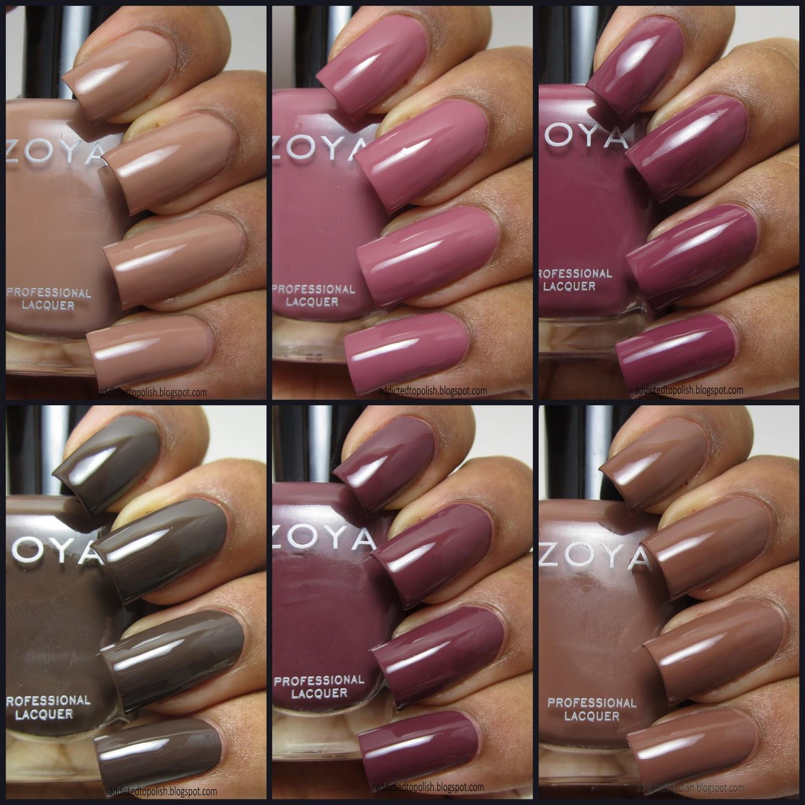 Zoya Neutral Nail Polish Swatches - Creative Touch