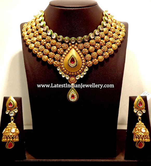 Bridal Jadau Necklace Set