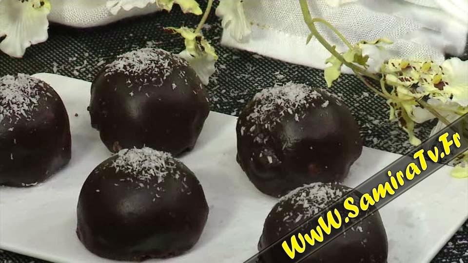 Les bounty chocolat noir cuisine alg rienne - Cuisine samira tv 2014 ...