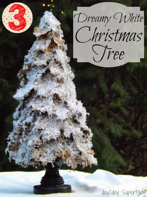 Dreamy White Christmas Tree ~ 12 SuperMom Days of Christmas