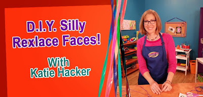 Make Silly Rexlace Faces with Katie Hacker - Hands On Crafts for Kids