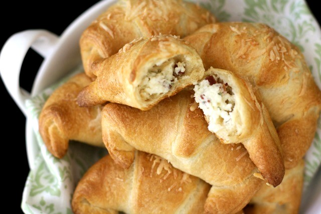 CHEESY BACON CRESCENTS: Butter With A Side of Bread