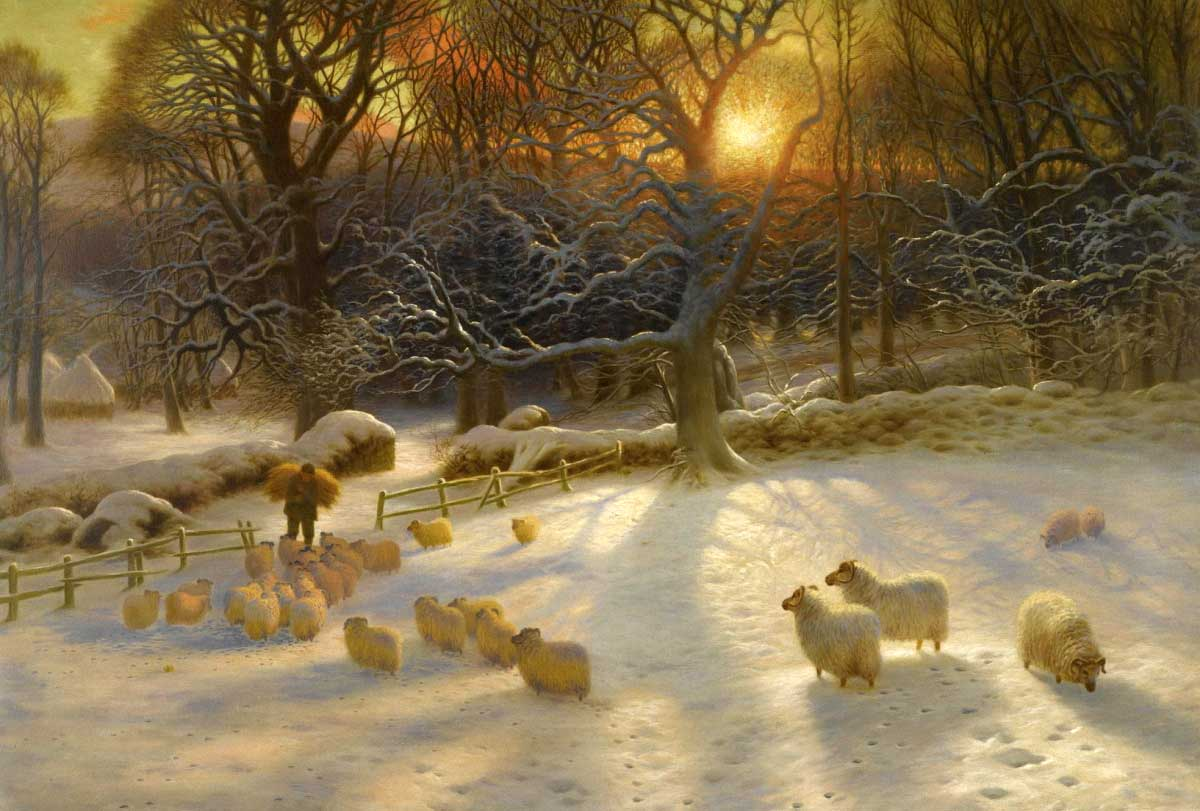 country christmas scenes wallpaper