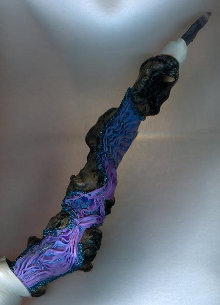 Shibori silk talking stick