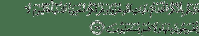 Surat Al-Jatsiyah ayat 35