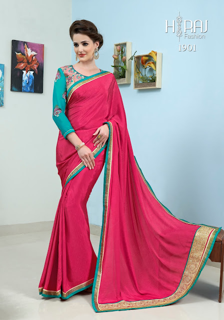Simaya – Plain Crepe And Self Jacquard Designer Saree