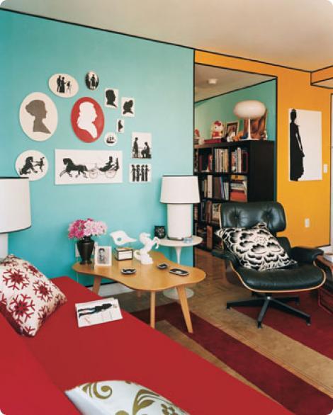 decoracao de sala retro:Salas retro