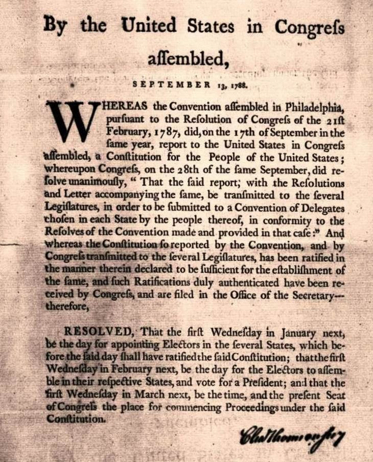 constitution of 1787 The constitution of the united states of  to attend a convention in philadelphia to discuss changes to the articles were sent to the state legislatures in 1787.