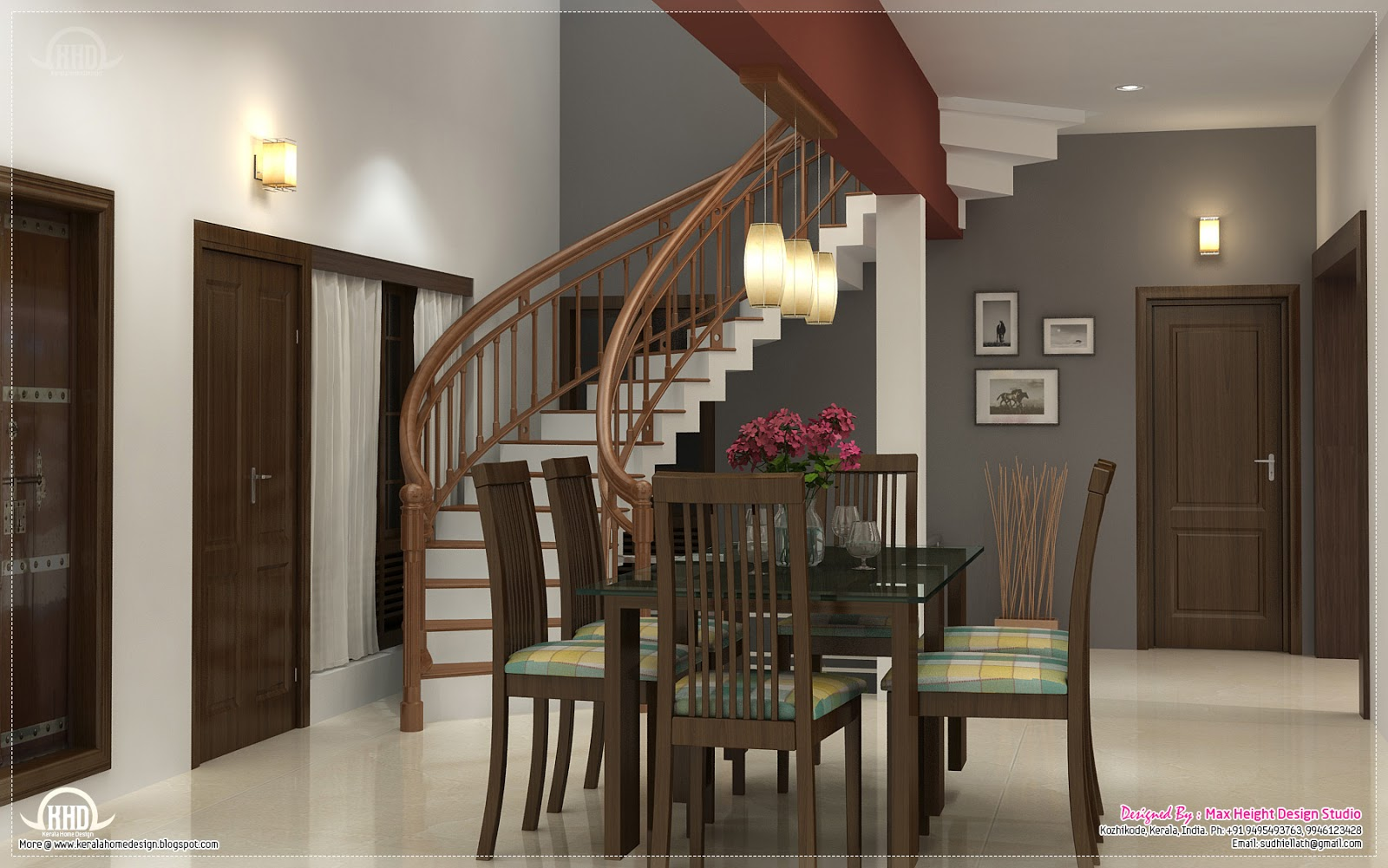 Home interior design ideas kerala home design and floor for House dining hall design