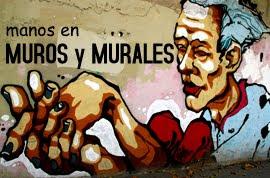 Manos en muros y murales