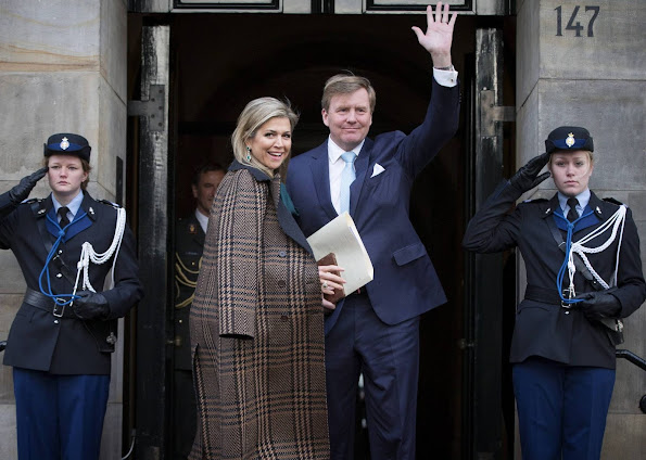 King Willem-Alexander and Queen Maxima of The Netherlands, Princess Beatrix and Princess Margriet of The Netherlands attended the traditional New Year Reception
