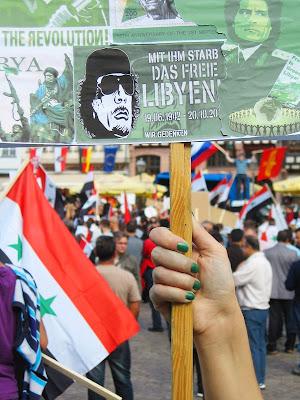 Demonstration für Syrien und Libyen - gegen imperialistische Intervention