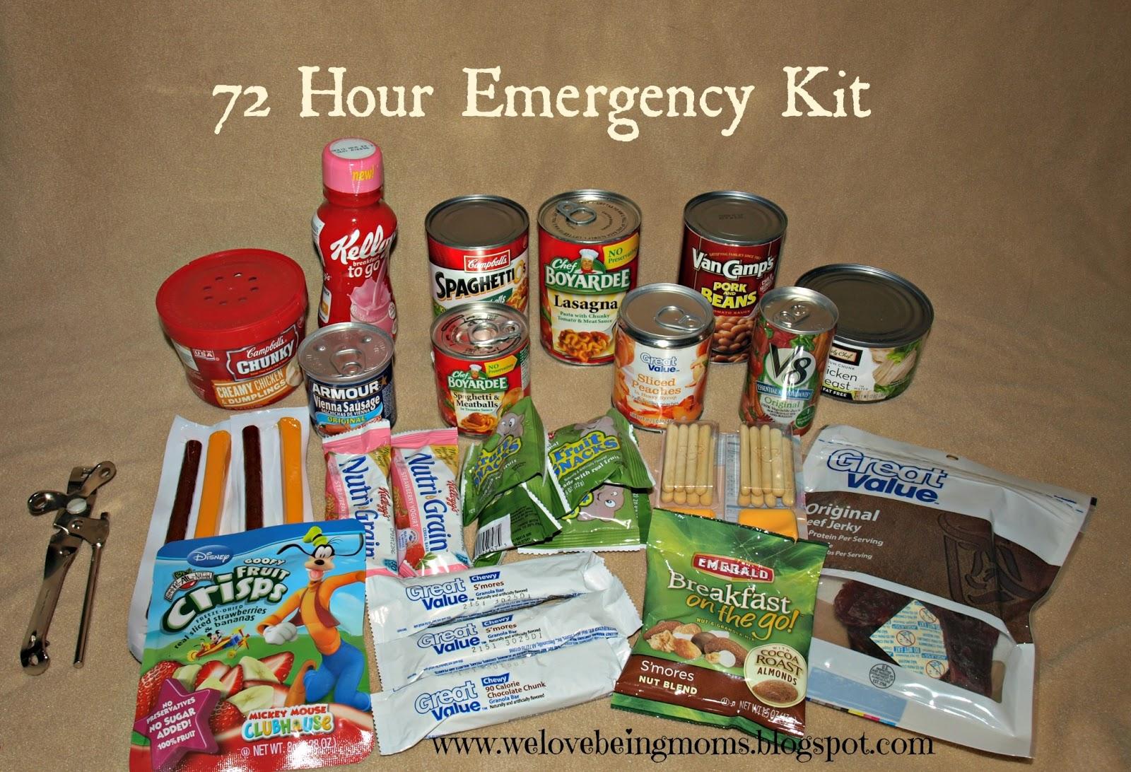 Emergency kit food items