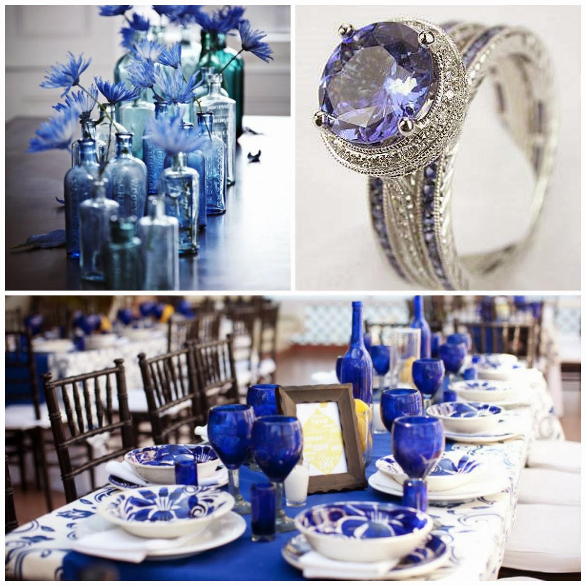 Event Soiree A Cobalt Blue Wedding Inspiration