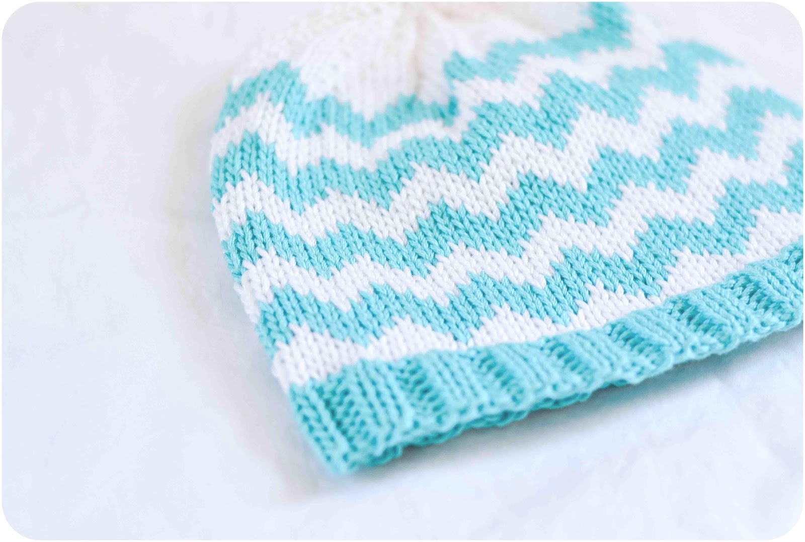 Chevron Knitting Pattern : Little and Lovely: the chevron baby hat pattern is finally ...