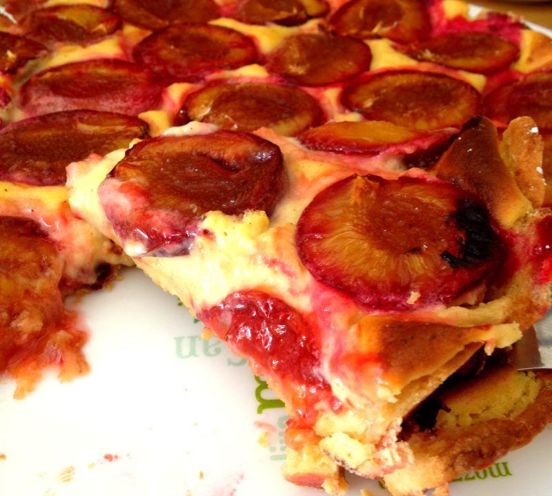 la cuisine claudine tarte aux prunes rouges et 224 la cr 232 me
