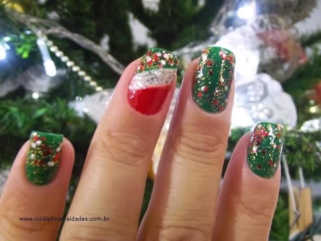 Unhas Decoradas para o Natal e Ano Novo