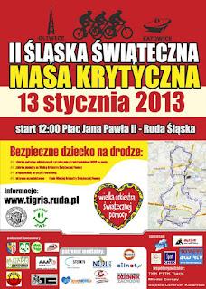Plakat Śląskiej Masy Krytycznej 2013r. Ruda Śląska