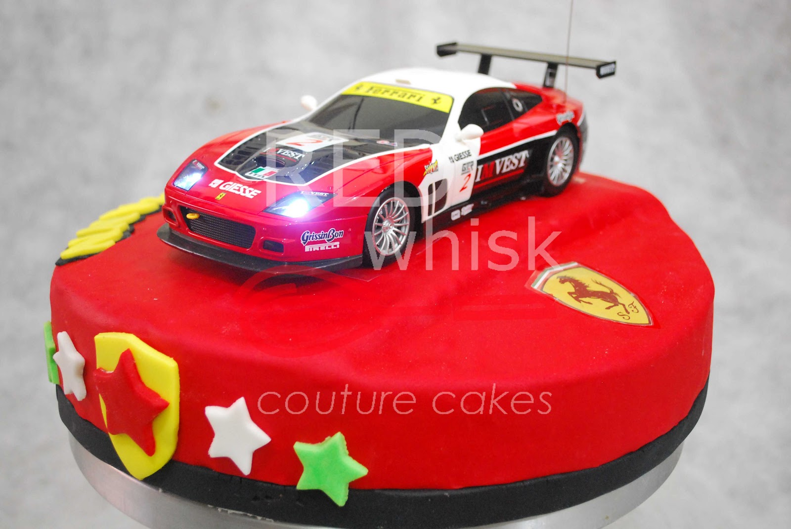 Red Ferrari Cake Images : RED whisk Couture Cakes: Ferrari Cake