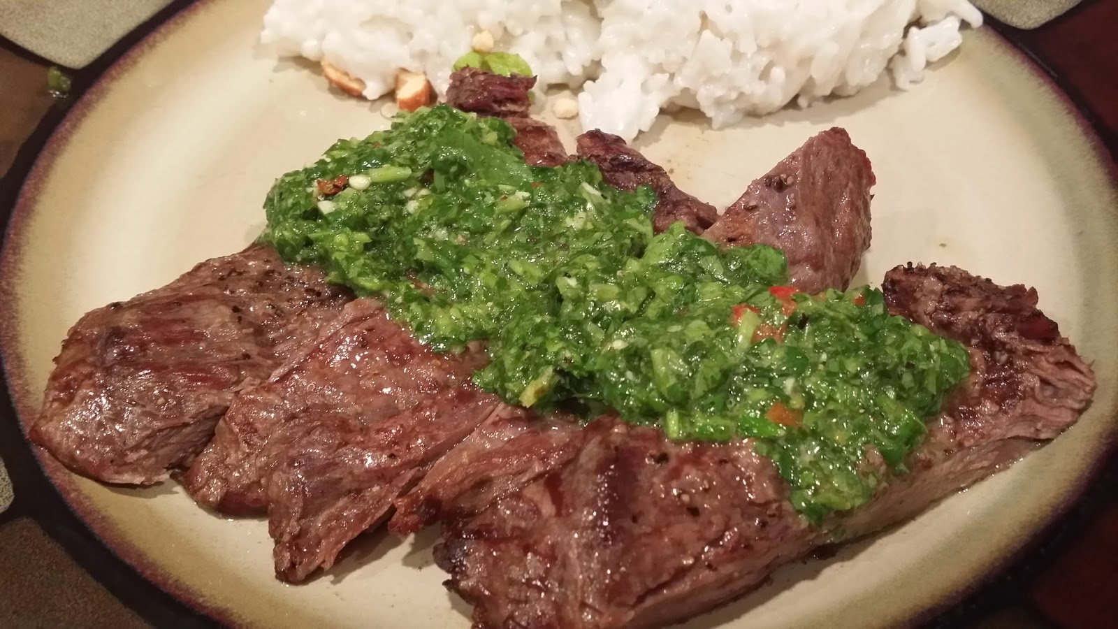 steak grilled steak w roasted seriouseats com green chimichurri sauce ...