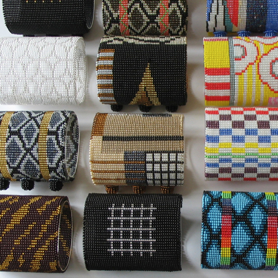Safari Fusion blog | Bracelet envy | Colourful geometric bead bracelets and cuffs by South African designer Gillian Fuller