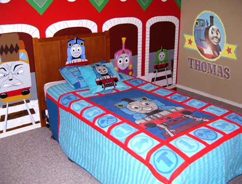 Popular Toby tram train Gordon Thomas and his friends curtains drapes enhance toddler bedroom sleeping area