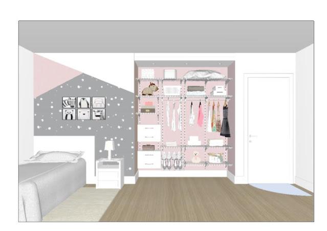 Armário aramado kit 26 - Closet ou quarto com módulo de madeira