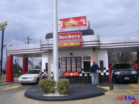 Checkers is a ghetto Burger World fast food place