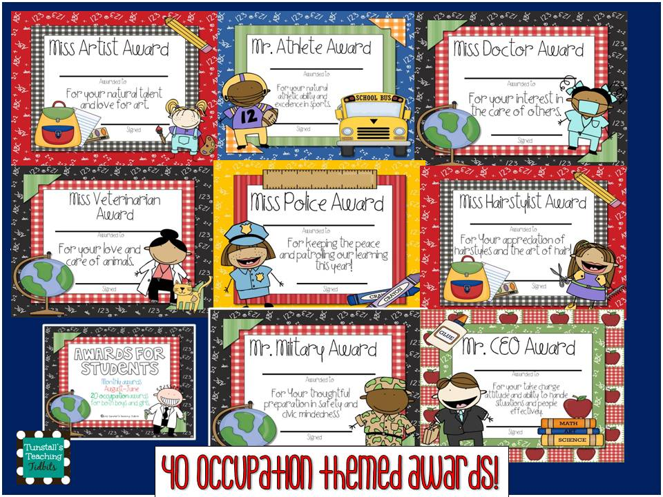 new awards for students tunstall s teaching tidbits