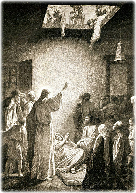 One Day As Jesus Was Teaching Pharisees And Teachers Of The Law Were Sitting There Who Had Come From Every Village Galilee Judea Jerusalem