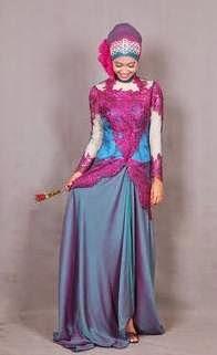Contoh desain baju muslim kebaya remaja modis