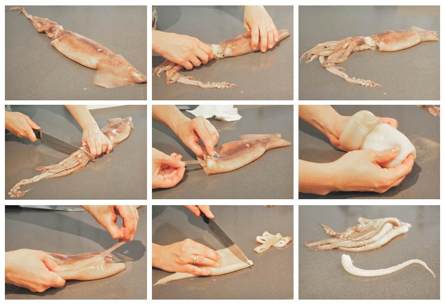 Pienso luego cocino limpiar calamares - Limpiar calamares pequenos ...