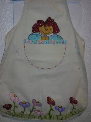 Avental de criança pintado à mão