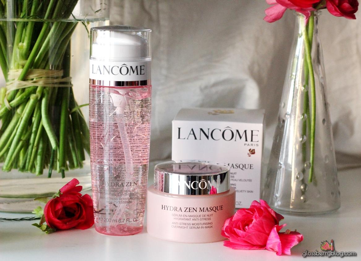 לנקום - מוצרים חדשים בסדרת הידרה זן / Lancome - Hydra Zen Beauty Essence & Overnight Serum-in-Masque mask review מסכה תמצית סרום בלוג איפור וטיפוח גלוסברי