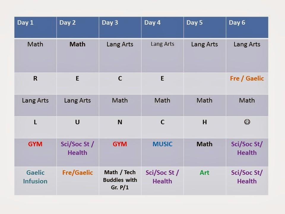 Second Semester Schedule