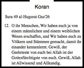 Botschaft des Koran