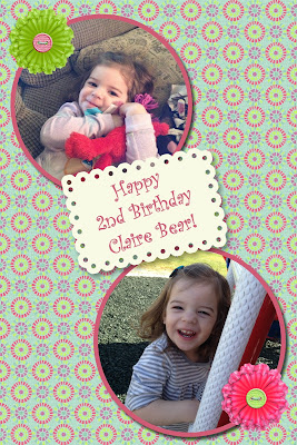 2nd Birthday Digital Page Granddaughter
