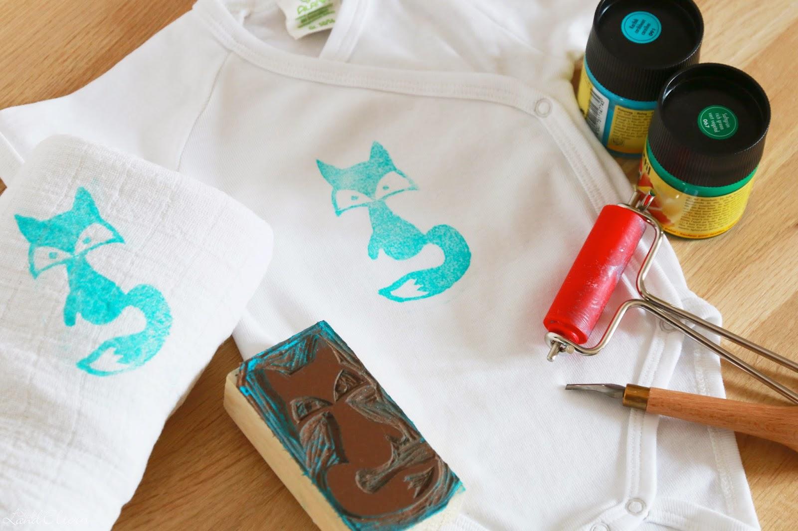 DIY Stempel zur Verschönerung von Baby-Bodies und Spucktüchern
