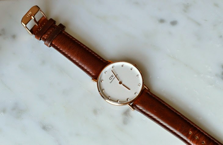 DW Daniel Wellington New Release Classy Collection 34mm St Mawes Leather Strap Rose Gold The Sparkling Cinnamon