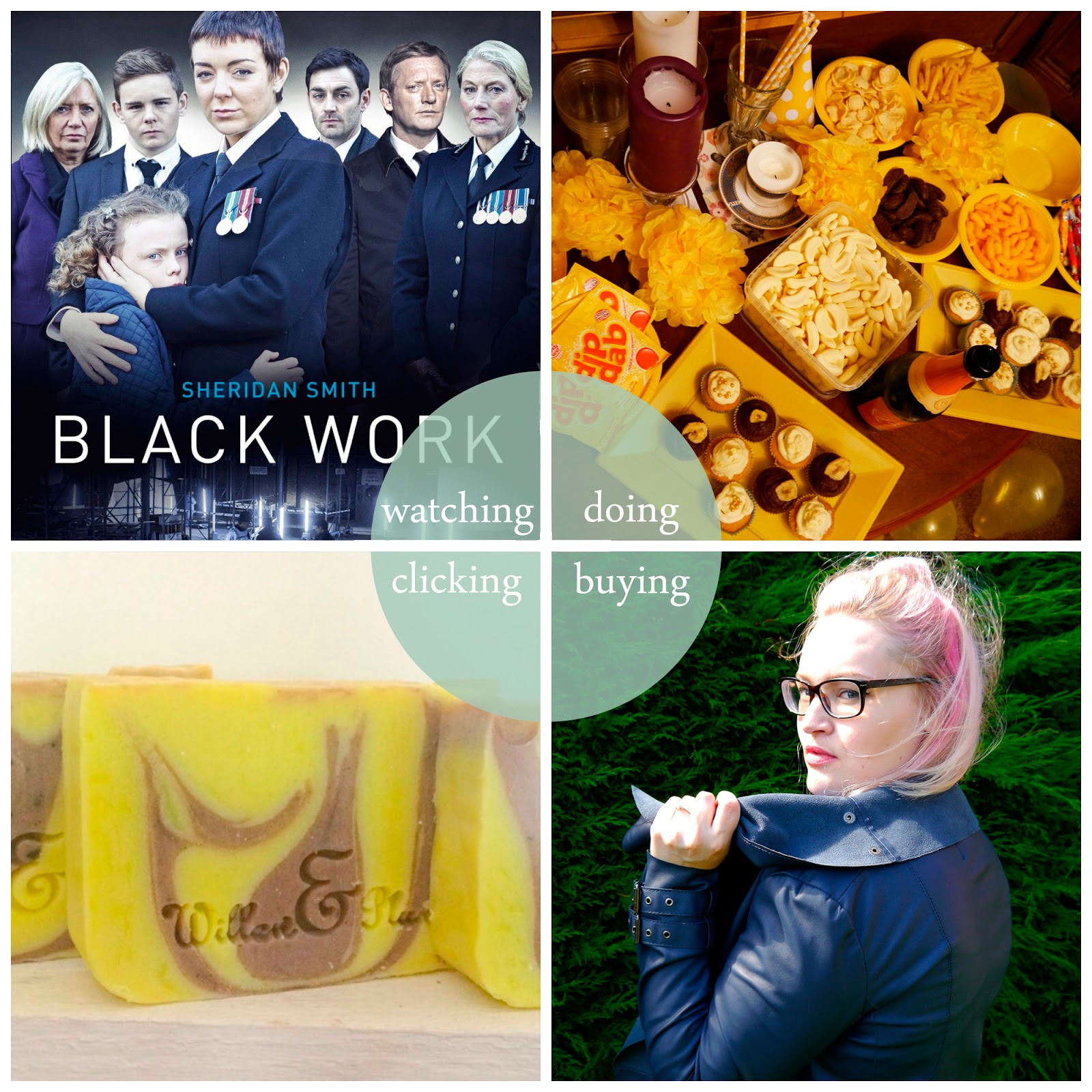 July, Round Up, best bits, Black Work, hen party, yellow hen party, banana hen party, jackets, Willow & Plum soap