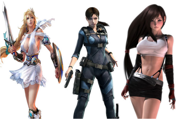 Sexualized video game characters