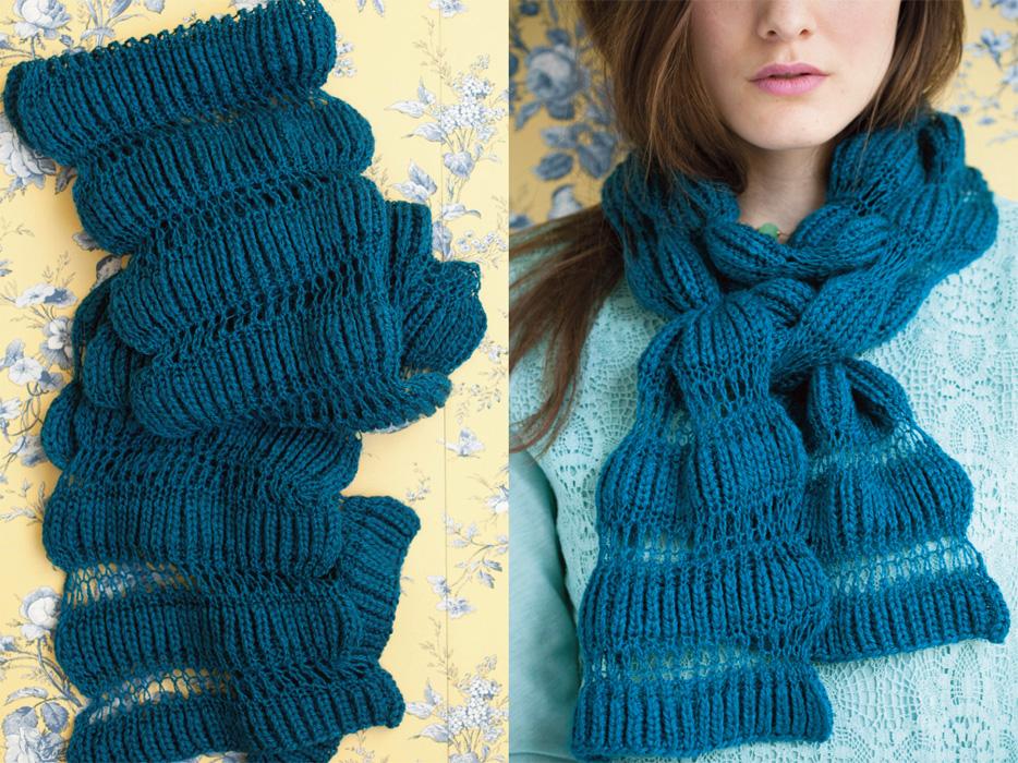 Способы вязания шарфов 96