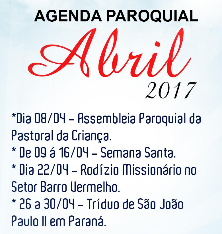 AGENDA DE ABRIL