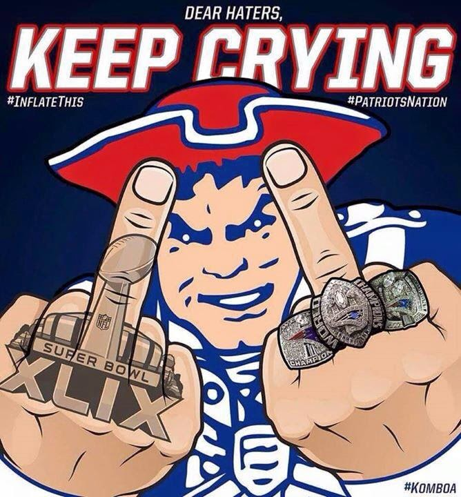 Dear Haters, keep crying. #Patriots #inflatethis #Patriotsnation #FuckYou