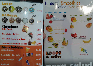 Loops, chocolate, bebidas y smoothies